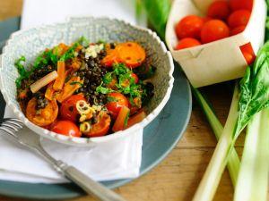 Linsen mit Mangoldcurry Rezept