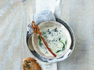 Linsen-Sahne-Suppe mit Speck Rezept