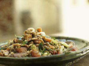 Linsensalat mit Sardinen auf marokkanische Art Rezept