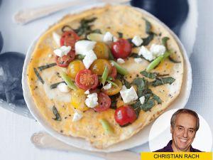 Low-Carb-Omelett mit Tomaten – schlanker Genuss