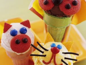 Lustige Tier-Eistüten Rezept