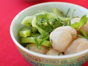 Lychee-Kiwi-Salat Rezept