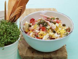 Mais-Eier-Salat mit Schinken Rezept
