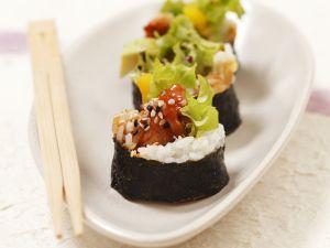 Maki-Sushi mit gebackenem Fisch Rezept