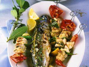 Makrele und Fischspieße vom Grill Rezept