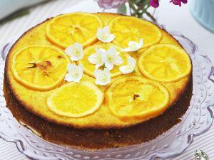 Mandelkuchen mit Orangen Rezept