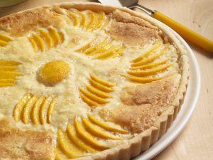 Mandeltarte mit Pfirsich Rezept