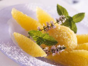 Mangoeis mit Orangenfilets Rezept