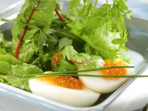Mangoldsalat mit Ei Rezept