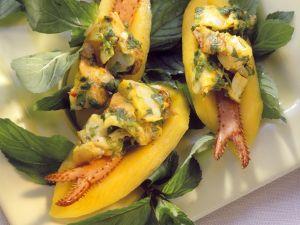 Mangos mit Hummersalat Rezept