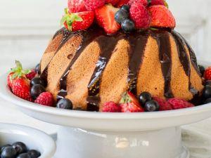 Marmorkuchen mit Früchten Rezept