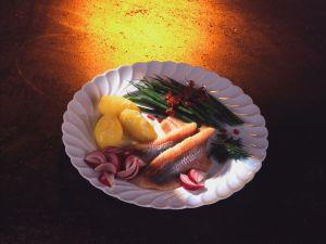 Matjes mit grünen Bohnen und Speckstippe Rezept