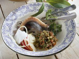 Matjes mit Kartoffeln und Speck-Dip Rezept