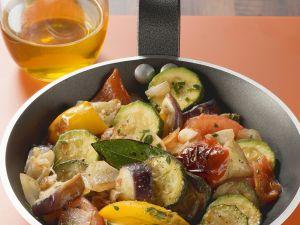 Mediterrane Gemüsepfanne Rezept