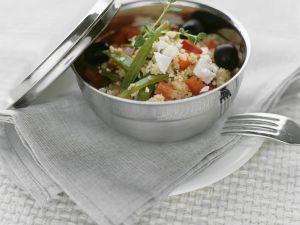 Mediterraner Couscous-Gemüsesalat Rezept