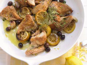 Mediterranes Hähnchen mit Zitrone Rezept