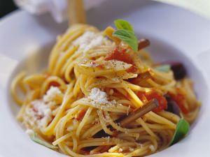 Meditterane Gemüse-Spaghetti Rezept