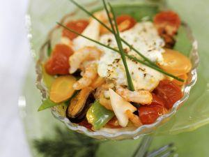 Meeresfrüchte-Gemüseauflauf Rezept