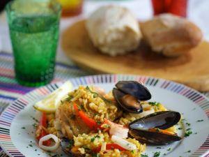 Meeresfrüchte-Paella Rezept
