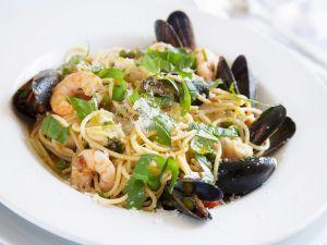 Meeresfrüchte-Spaghetti Rezept