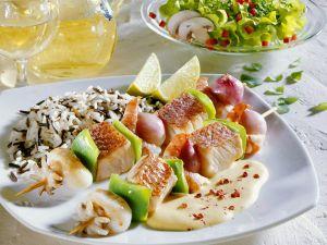 Meeresfrüchte-Spieße Rezept
