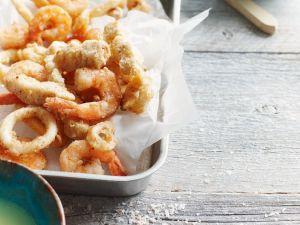 Meeresfrüchte-Tempura Rezept