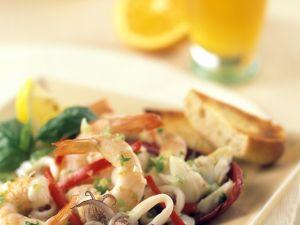 Meeresfrüchtesalat mit Orangendressing Rezept