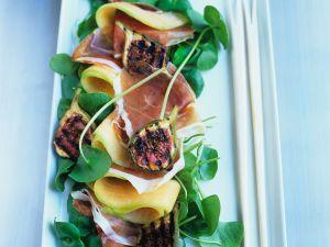 Melone mit Schinken und Feigen Rezept