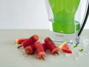 Melone-Pfefferminz-Eis Rezept