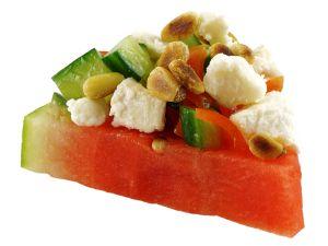 Melonen-Bruschetta Rezept
