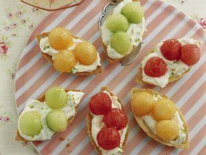 Melonen-Tarteletts Rezept