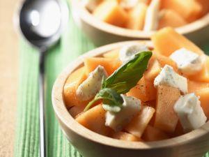 Melonensalat mit Blauschimmelkäse Rezept