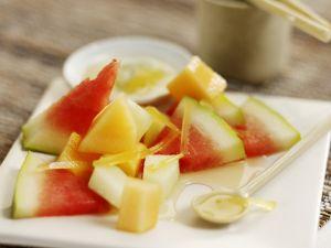 Melonensalat mit Ingwer Rezept