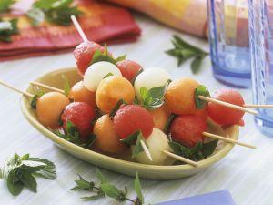 Melonenspieße Rezept