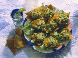Mexicanische Tacos gefüllt mit Oliven-Kartoffel-Salsa Rezept