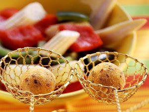 Mexiko-Fondue mit Polentabällchen und Gemüse Rezept