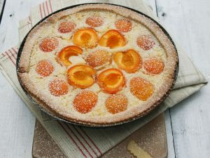 Milchreis-Aprikosen-Kuchen Rezept