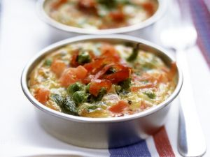 Mini-Gemüsetortillas mit Serranoschinken Rezept