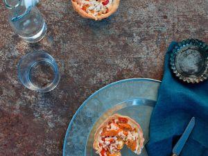 Mini-Quiche mit Paprika Rezept