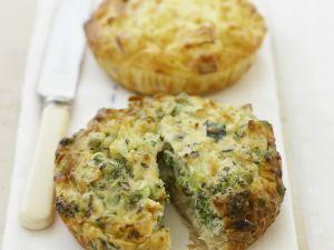 Mini-Quiches mit Brokkoli Rezept