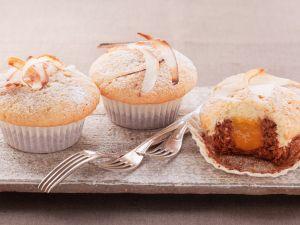 Mit Aprikose gefüllte Muffins Rezept