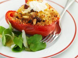 Mit Couscous gefüllte Paprika Rezept
