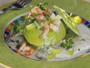 Mit Shrimps gefüllte Kohlrabi Rezept