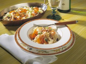 Möhren-Reis-Pfanne Rezept