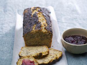 Mohn-Kartoffel-Brot und Konfitüre Rezept