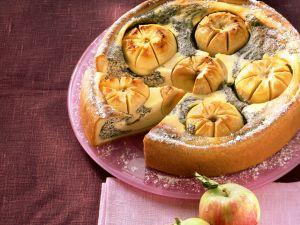 Mohn-Quarkkuchen mit Äpfeln Rezept