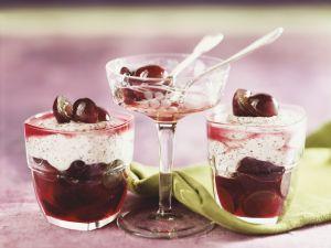 Mohncreme mit Weintrauben Rezept