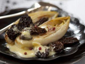 Morcheln mit Chicorée Rezept