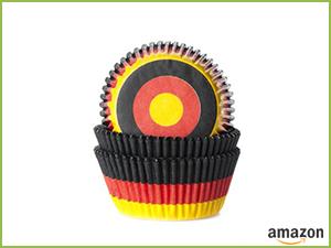 Muffinförmchen Deutschlandfarben