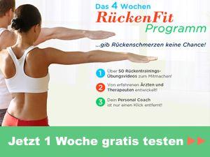 Das 4-Wochen Rücken-Fit-Programm